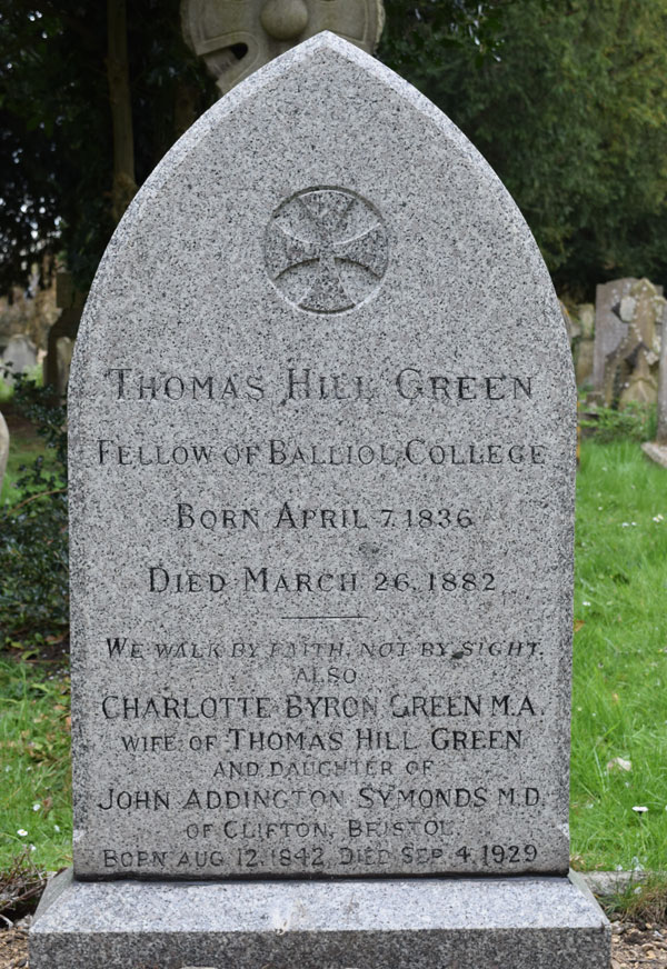T. H. Green grave text