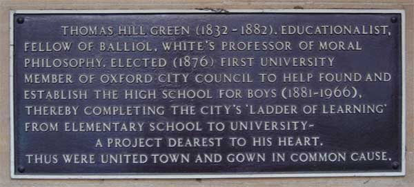 Boys High School inscription