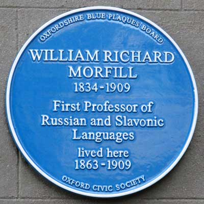 Blue plaque to Morfill