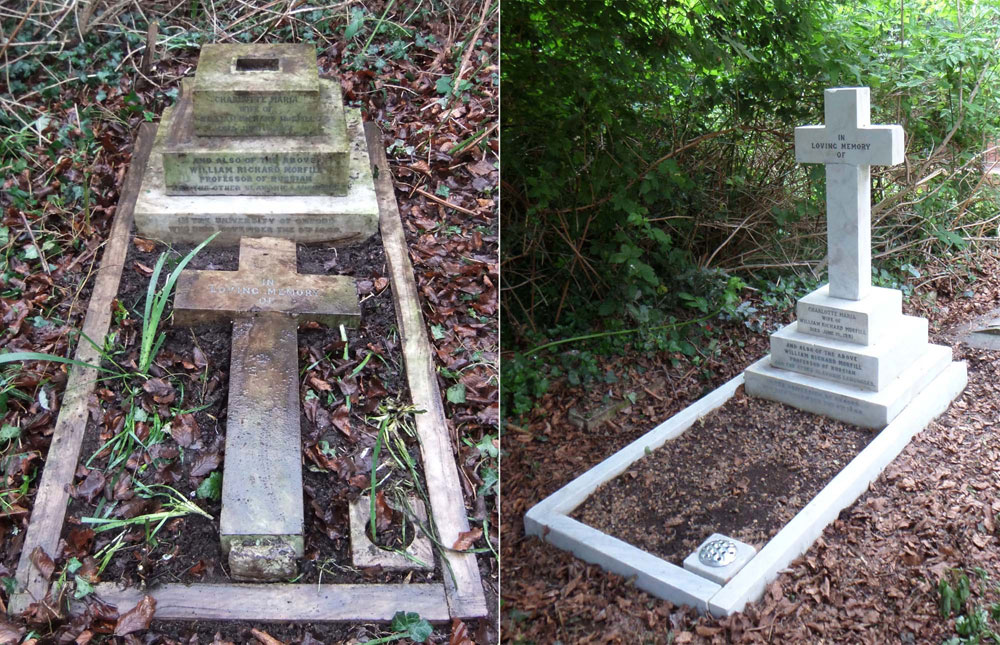 restoring a grave in st sepulchre s cemetery oxford
